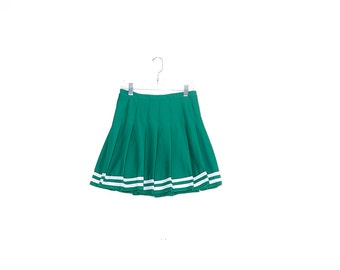 cutest vintage CHEERLEADER SKIRT /  authentic cheerleading skirt cheer skirt high waisted skirt pleated skirt 90s preppy school girl looks
