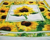 Finished needlepoint picture, Sunflowers, Field of Sunflowers,  Needs to be framed, Finished cross stitch, Vintage cross stitch, Home decor