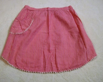 Vintage Aprons, Red and White, Candy Striper, Kitchen Apron, Costume