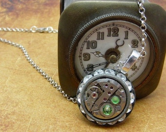 Bling - Steampunk Necklace - Repurposed Art