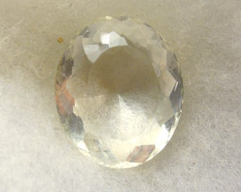 57.5 carat  ...  faceted quartz crystal gemstone ... 27 x 23 x 15 MM