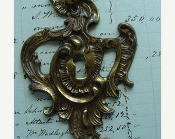 ONSALE Antique Metal Fancy Escutcheon