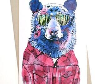 Bear in Shades Card