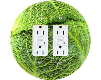 Cabbage Double GFI Outlet Plate Cover