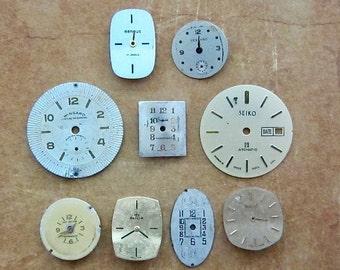 Vintage Antique Watch  Assortment Faces - Steampunk - Scrapbooking r48