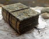 Swell - Vintage Linen Journal, Sand & Sea Inspired Pages - OOAK