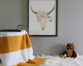 Crochet Baby Blanket | Color Block Blanket | Mustard | Sungold | Baby Blanket | Nursery Bedding | Modern Nursery | Gift Idea | New Baby