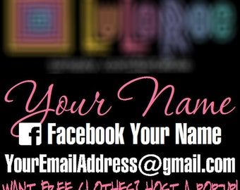 Fashion Consultant Vehicle Decal with Colored Name - LLR - Customizable - Vinyl Graphic