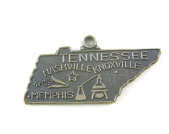 Vintage Sterling Silver Tennessee State  Cut Out Travelers Charm