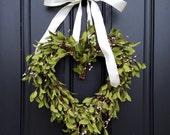 VALENTINES WREATH, Valentines Day Decor, Boxwood Heart Wreath, Heart Wreath Boxwood, Everyday Wreaths, Valentines Gift Her, Valentines DAY
