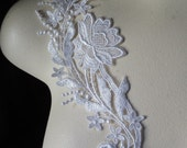 BF SALE Off White Lace Applique, American made for Bridal, Sashes, Headbands, Garments WA 104