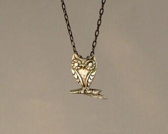 Medium Owl in 3D Necklace