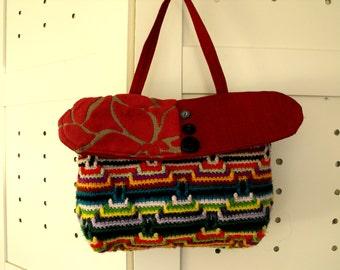 upcycled  eco  bohemian gypsy crochet  bag