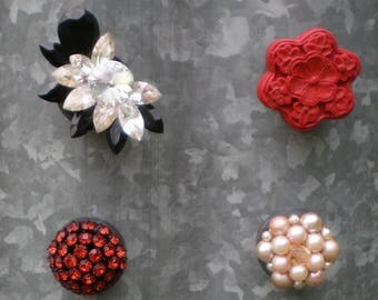 Pick a Jewelry Magnet, Refrigerator Magnet, Upcycled Vintage Costume Jewelry, Repurposed Jewelry, Teacher Gift, Co Worker Gift