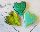 Set of 3, Shades of Green...