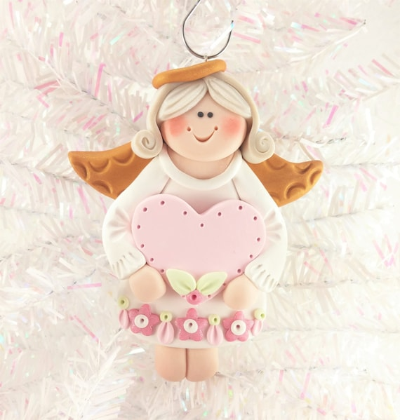 Christmas Ornaments For Baby Shower Favors : Baby shower favor personalized angel christmas ornament