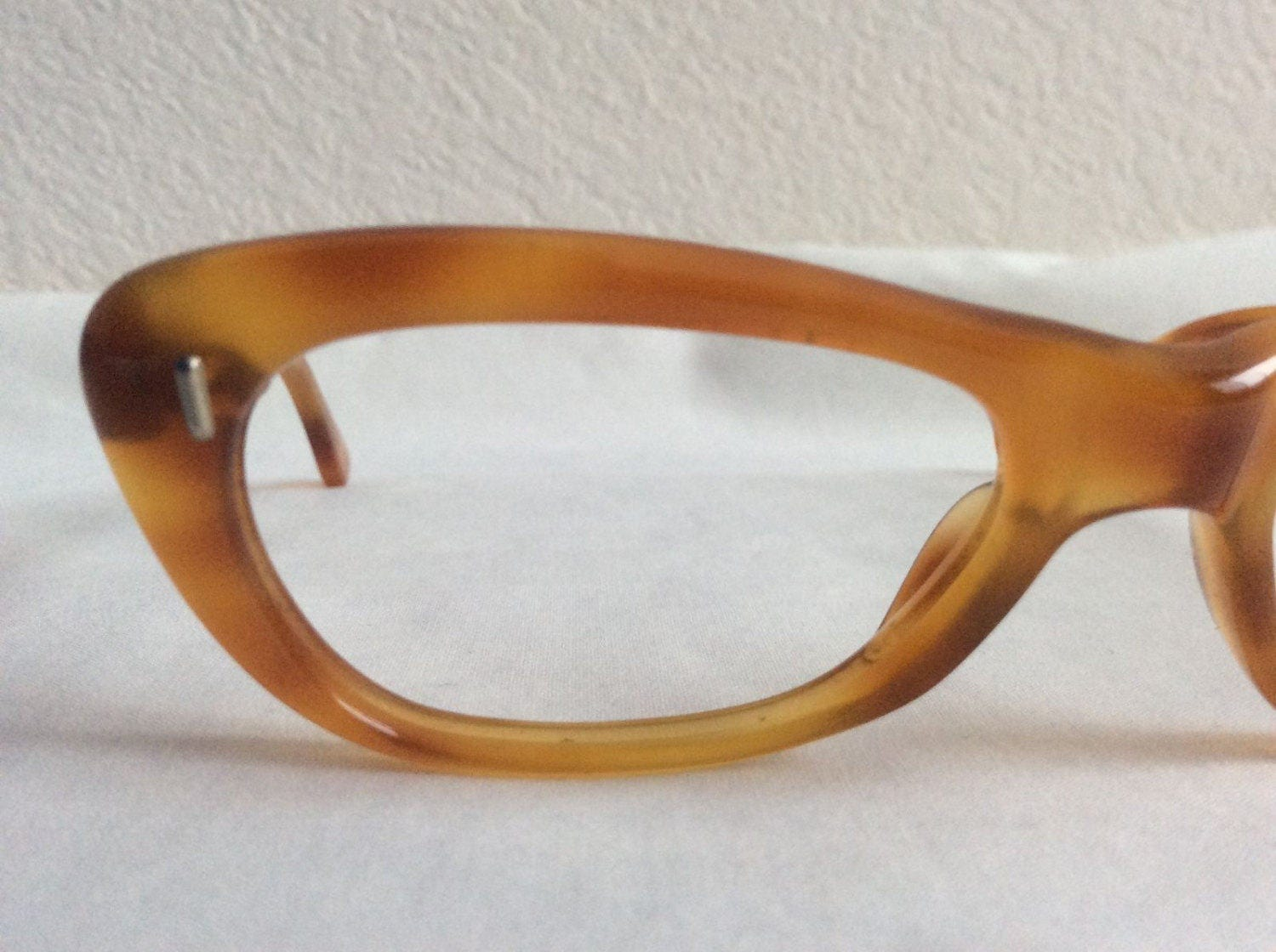 Amber Colored Tortoise Cateye Glasses, Vintage New Old Stock Cat Eye ...