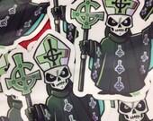 "Ghost Papa Emeritus II Vinyl Sticker 2.4"" x 3"""