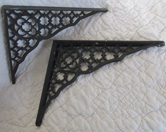 Vintage Cast Iron Brackets Victorian 2 Matching set SALE