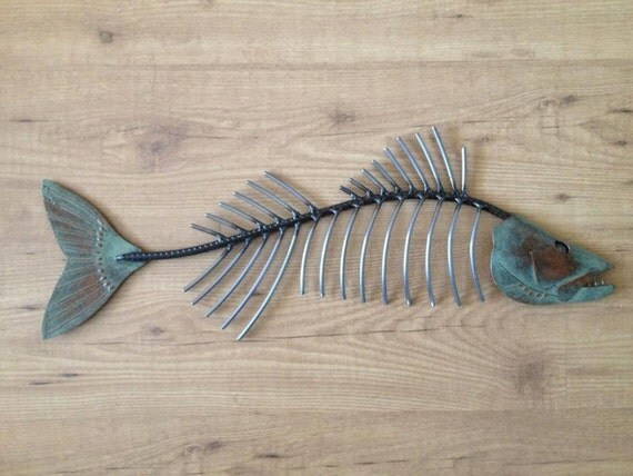 Walleye metal fish 26in Art wall sculpture Lake Cabin Cottage