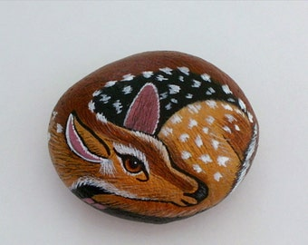 Spring-Valentines-Mothers Day-gift ideas-deer-miniature animal-diy fairy garden kit-terrarium kits-ooak fairy accessories-painted pet rocks