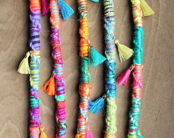 1 (READY to SHIP) Jumbo Twisted Tassel Wrap Bohemian Hair Extension Hippie Tribal Hair wrap