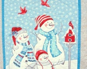 Quilted Wall hanging Snowman winter Wall art holiday decoration