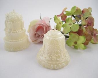 Beeswax Wedding Favor Votive Candles