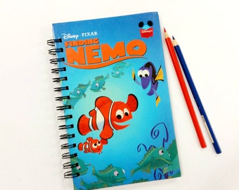 Finding Nemo, Recycled Book Journal, Notebook