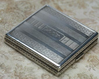 Vintage Sterling Powder Compact - Charme