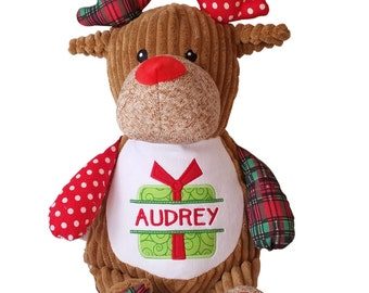Personalized Baby's First Christmas Gift, Soft Plush Stuffed Animal Custom Made especially for Babies for Christmas