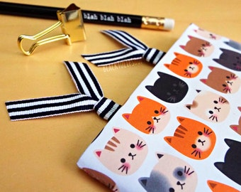 SHIPS APRIL 3rd - Planner Clip Paper Clips Planner Accessories Planner Paperclip Black White Striped Bookmarks Page Markers - 2pc or 4pc Set