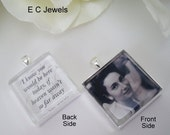 Pre HOLIDAY SALE Double Sided Custom Photo Bouquet Charm