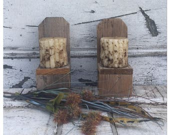 Wooden Doll Chairs - Wood Doll Chairs - Rustic Candle Sconce - Candle Sconce - Rustic Candleholder - Rustic Plant Stand - Doll Furniture