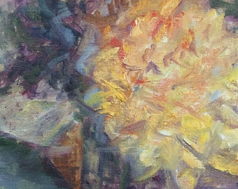 Flower Power  - Impressionist Painting - Affordable Art - Miniature Oil Painting on Canvas - Original Artwork - Alla Prima