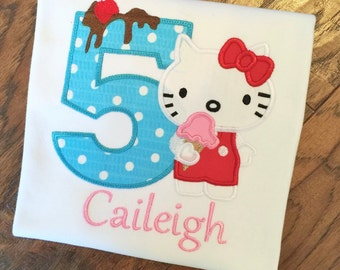 Girls Hello Kitty Birthday, Hello Kitty Birthday, Personalized Hello Kitty,