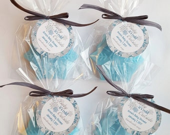 Snowflake Baby Shower Favors Snowflake Soap Favors Snowflake Party Favors Oh Baby It's Cold Outside Favors (20 complete favors with tags)
