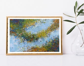 Abstract Printable Art - Abstract Impressionist Landscape Painting - Instant Download - Modern Home Decor - Abstract Wall Art - 8x12 Print