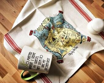 San Francisco Map Kitchen/Tea Towel