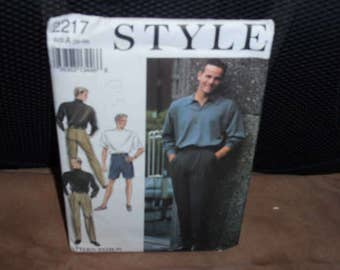Style 2217 Pattern Men's Casual Pants and Shorts  Size 30-39  New - Uncut