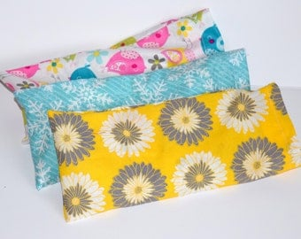 Soothing rice and lavender eye pillow with washable cotton cover