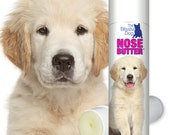 Golden Retriever ORIGINAL NOSE BUTTER® Handcrafted All Natural Soothing Balm for Dry or Crusty Dog Noses .50 oz Tube with Golden Label
