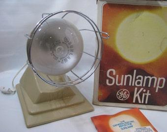Vintage GE Sunlamp Kit Suntanning Reflector Light Model RSK5