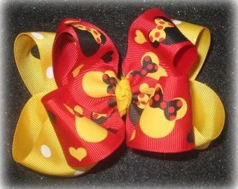 Minnie Mouse bows, Minnie hairbows, Double Layered Bows, Girls Hair Bow, Boutique Bows, Disney Band, Disney Bows, Magical, Minnie Headband