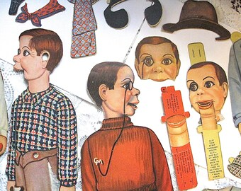 Charlie McCarthy As Is Paper Doll Lot Some Accessories Clothing 1938 One Whole 15 Inch Doll Others Missing Parts Read Full Details