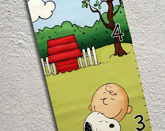 Canvas Growth Chart Snoopy Charlie Brown