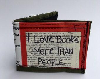 Bifold wallet, recycled wallet, men's wallet, vegan wallets