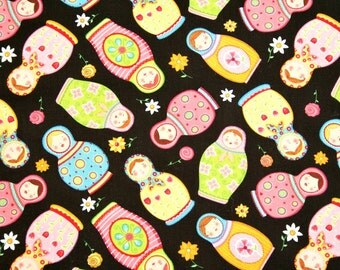 Timeless Treasures Tossed Matryoshka Russian Doll Cotton Fabric
