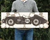 Vintage Race Car Wall Art - Boys Room Decor - Custom Car Print - Boys Room Wall Art Decor - Car Print Design #1