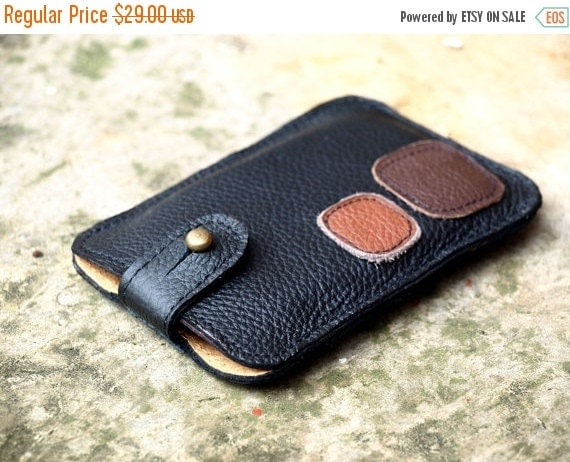 SALE Rustic Leather iPhone 4 Case Wallet for Men, father // Black Brown,geometric iPhone 4 case, unique gifts